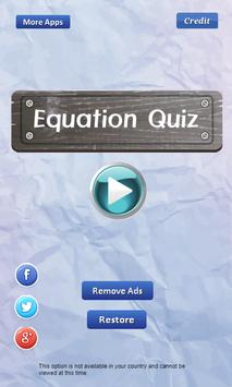 Equation Quiz - Math games apk screenshot