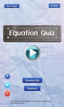 Equation Quiz screenshot 1