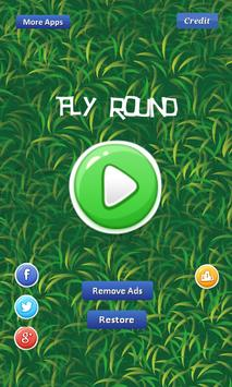 Fly Round - avoiding eagle poster