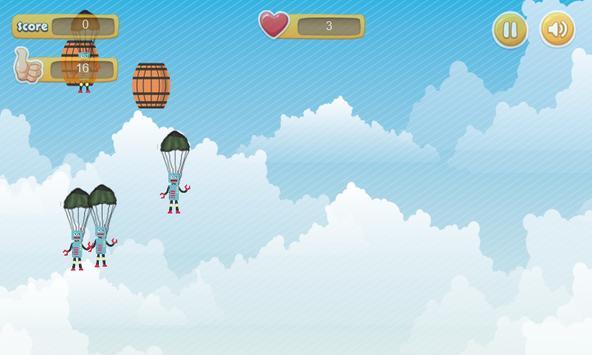 Parachute Invader poster