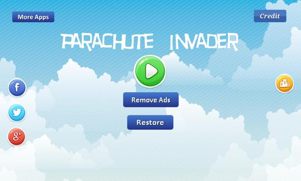 Parachute Invader-break parach poster