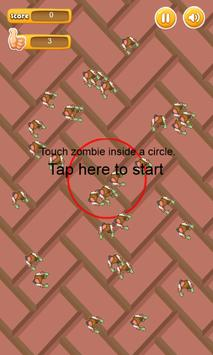 Touch Zombies In Circle - many apk screenshot