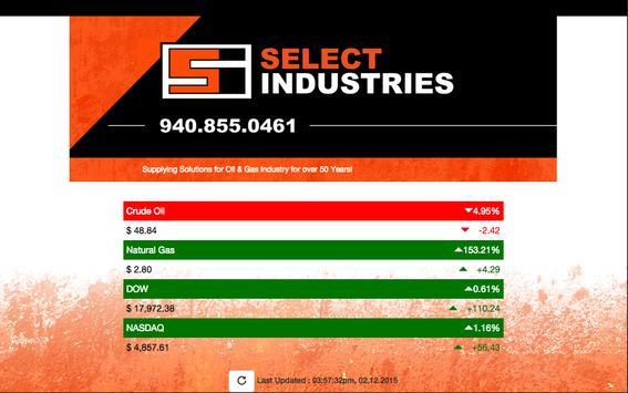Select Industries Oil & Gas screenshot 1