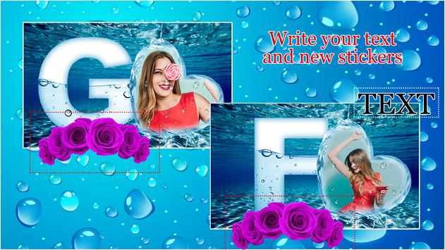 Water Text Photo Frames poster