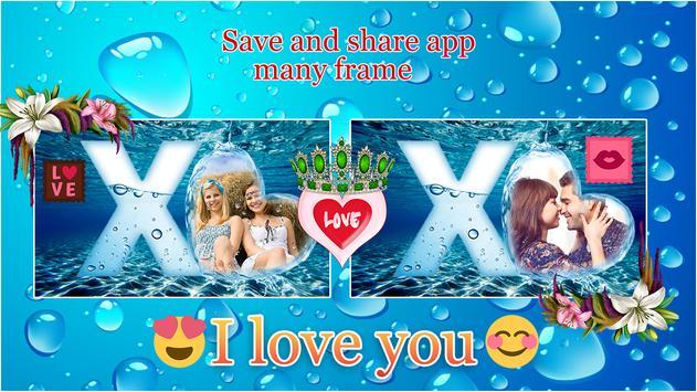 Water Text Photo Frames screenshot 2