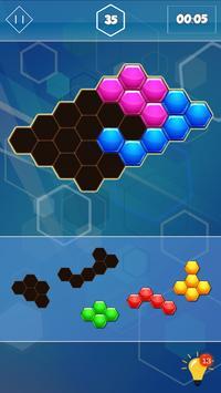 Block Hexagon Affiche