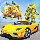 Real Robot Rhino Attack Car Transform Games 아이콘