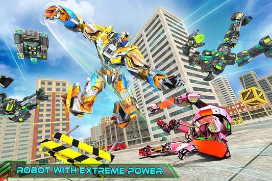 Real Robot Rhino Attack Car Transform Games 스크린샷 3