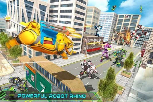 Real Robot Rhino Attack Car Transform Games 스크린샷 11