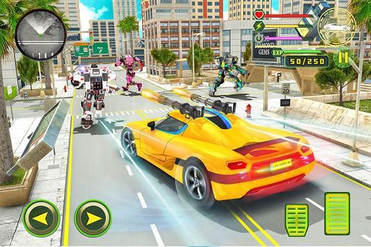 Real Robot Rhino Attack Car Transform Games 스크린샷 1