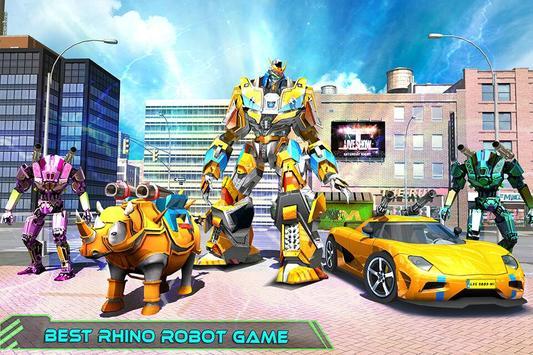 Real Robot Rhino Attack Car Transform Games 스크린샷 5