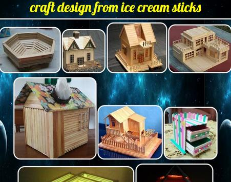 handicraft designs from ice cream sticks poster