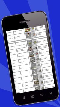 Crafting Recipes for Minecraft apk screenshot