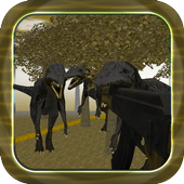 Dino craft free icon