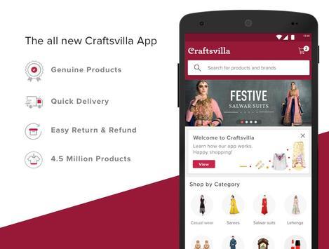 Craftsvilla - Ethnic wear Online Shopping poster