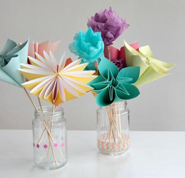 craft paper flowers poster