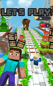 MineCraft Subway Rush: Lego, Block, Craft 3D Run screenshot 1