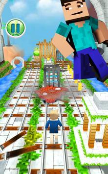 MineCraft Subway Rush: Lego, Block, Craft 3D Run screenshot 3