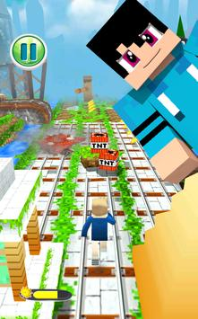 MineCraft Subway Rush: Lego, Block, Craft 3D Run screenshot 7