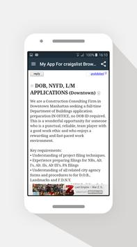Browser for Craigslist NY 2 🤑 apk screenshot