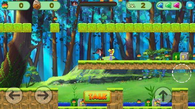 Amazing Bandicoot Jungle Adventure apk screenshot