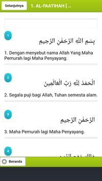 Kitab Suci Al Quran dan Terjemahan screenshot 2