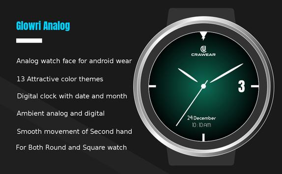 Glowri Analog - Watch Face with inbuilt themes poster
