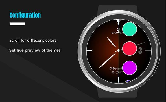Glowri Analog - Watch Face with inbuilt themes apk screenshot