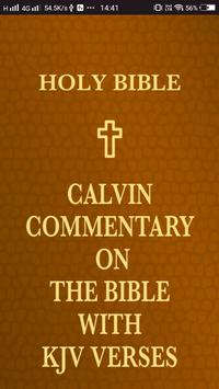 Calvin Commentary on the Bible with KJV Verses poster