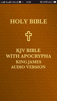 KJV Bible with Apocrypha. King James Audio Version poster