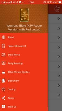 Womens Bible (KJV Audio Version with Red Letter) apk screenshot
