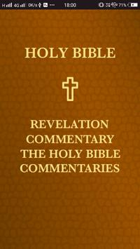 Revelation Commentary. The Holy Bible Commentaries poster