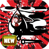 Crazy angelo  flay helicopter icon