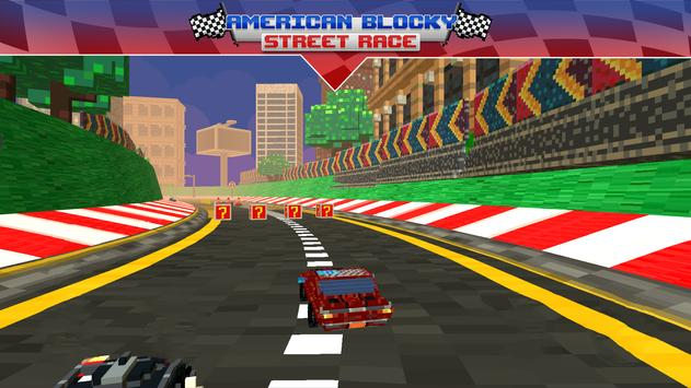 American Blocky Street Race apk screenshot