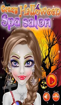 Crazy Halloween Spa Salon poster