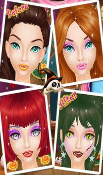 Halloween Makeup Salon Girls apk screenshot