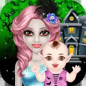 Halloween Mommy & Newborn Baby icon