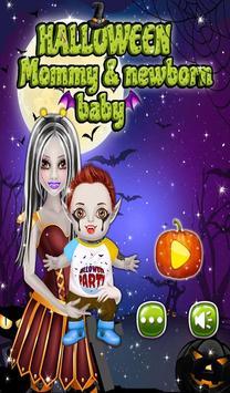 Halloween Mommy & Newborn Baby poster