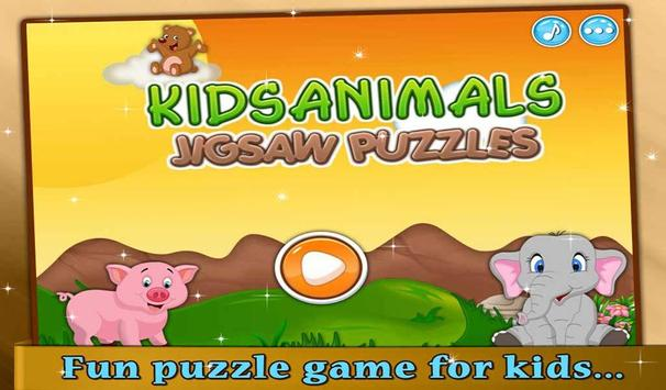 Kids Animals Jigsaw Puzzle poster
