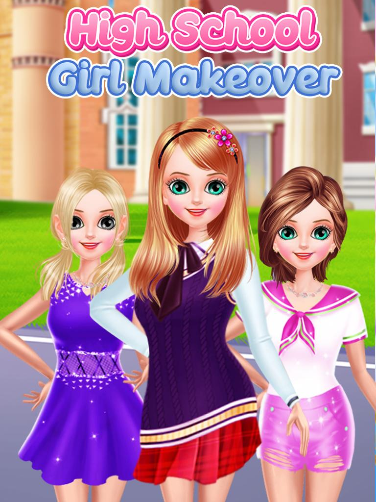 School Fashion: Makeup, Dress up game for Girls for