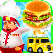 Food Truck Overcooked! Cooking Game icon
