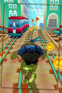 Ninja Run Turtle Jump poster