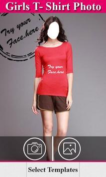 Girls Tshirt photo frames editor poster