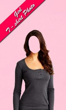 Girls Tshirt photo frames editor screenshot 1