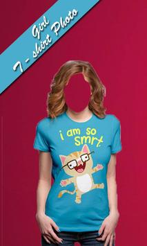Girls Tshirt photo frames editor screenshot 2