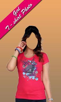 Girls Tshirt photo frames editor screenshot 4