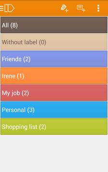 LabelToDo Todo lists and more screenshot 1