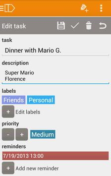 LabelToDo Todo lists and more screenshot 5