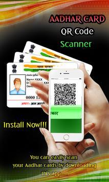 Aadhaar Card QR Code Scanner poster