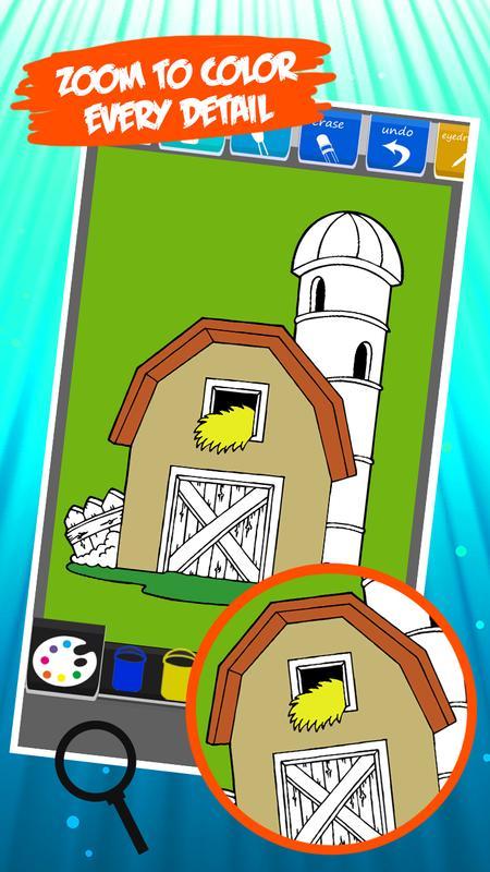 libro para colorear granja Descarga APK - Gratis Entretenimiento ...